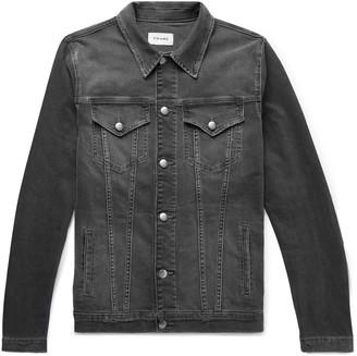 Frame L'homme Distressed Stretch-Denim Jacket