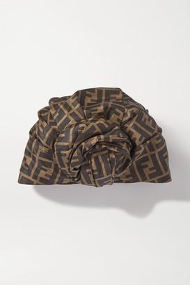 Fendi Printed Silk Turban - Brown