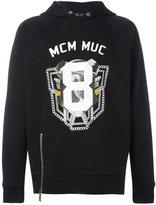 MCM logo print hoodie - unisex - Cotton - M