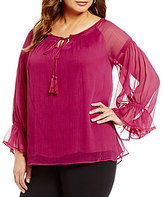 Gibson & Latimer Plus Babydoll Blouse