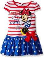 Disney Little Girls 2 Piece Minnie Americana Dress