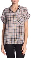 Sanctuary Mod Plaid Short Sleeve Boyfriend Shirt
