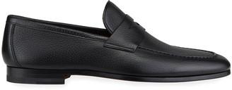 Magnanni Men's Super Flex Leather Penny Loafers