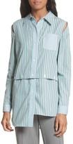 Milly Women's Fractured Stripe Shirt