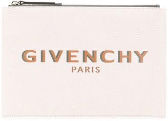 Givenchy Logo Print Clutch Bag
