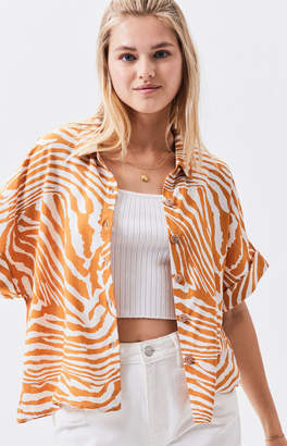 MinkPink Pretty Wild Cropped Shirt