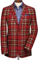 Charles Tyrwhitt Red check slim fit royal Stewart jacket