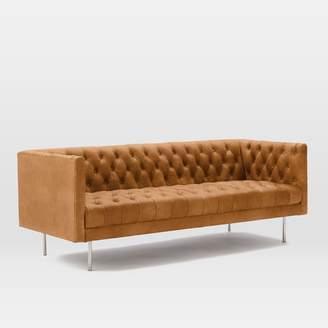"west elm Modern Chesterfield Leather Sofa (79"")"