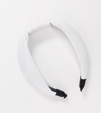 My Accessories London Exclusive knotted headband in white