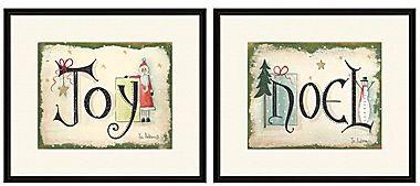 Noël Joy and Set of 2 Wall Art
