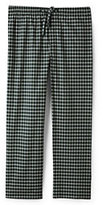Lands' End Men's Big Classic Fit Broadcloth Pajama Pants-Gray Heather Gingham