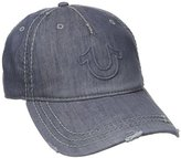 True Religion Men's Distressed Horseshoe Baseball Cap