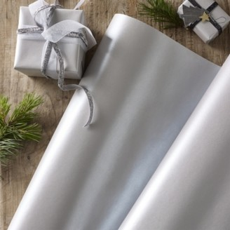 The White Company Silver Wrapping Paper - 10m, Silver, One Size
