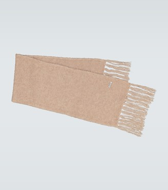 AURALEE Alpaca-blend fringed scarf
