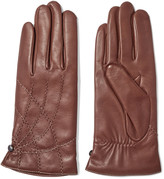 Agnelle Embroidered leather gloves
