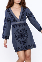 Debbie Katz Blue Embroidered Dress