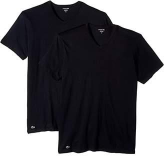 Lacoste Colours 2-Pack Classic Fit V-Neck Tee (Black) Men's T Shirt