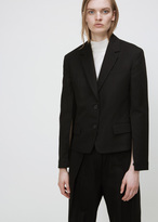 Jil Sander black cornell tailor made blazer