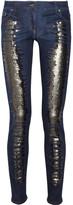 Roberto Cavalli Sequin-embellished mid-rise skinny jeans