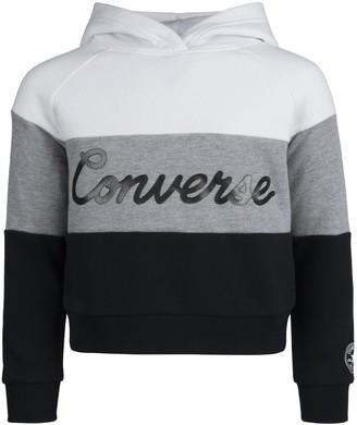 Converse Girls 7-16 Colorblock Logo Fleece Hoodie