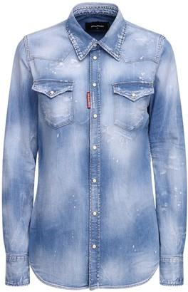 DSQUARED2 Stretch Cotton Denim Shirt