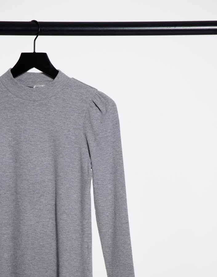 Thumbnail for your product : Pimkie brushed high neck top in grey marl