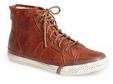 Frye Greene Back Zip Shearling Lined Leather High Top Sneaker
