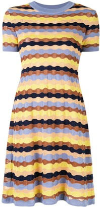 M Missoni Scalloped Knit Dress