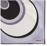 Tom Ford Circle Swirl Pocket Square, Lavender