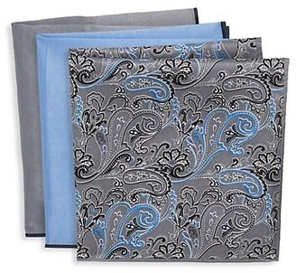 Ted Baker 3-Pack Cotton Silk Blend Pocket Squares