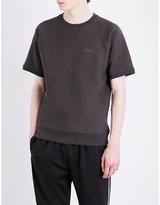 Stussy Short-sleeved cotton-jersey sweatshirt