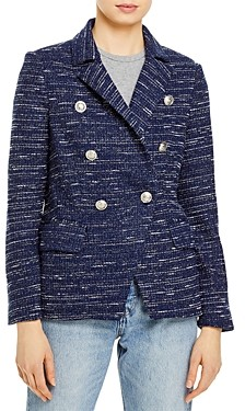 Aqua Tweed Double Breasted Blazer - 100% Exclusive