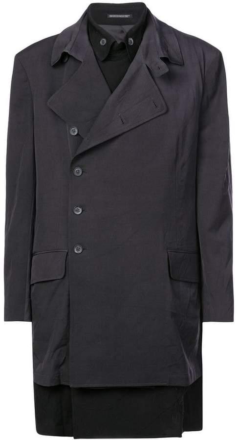 Yohji Yamamoto layered face embroidered jacket