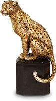 Jay Strongwater Sitting Leopard Figurine