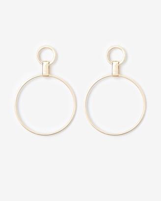 Express Double Circle Link Drop Earrings