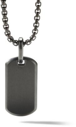David Yurman The Streamline Collection Black Titanium Tag Enhancer Pendant