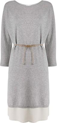 Fabiana Filippi Layered Knitted Midi Dress