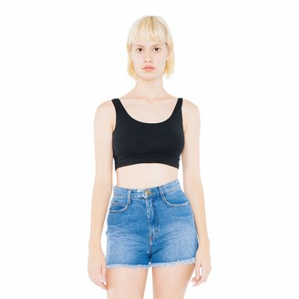 American Apparel Women's Cotton Spandex Sleeveless Crop Tank