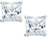 Sterling Silver Earrings, Square Cubic Zirconia Studs (1-1/2 ct. t.w.)