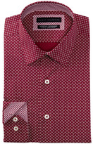 Report Collection Floral Print Slim Fit Dress Shirt