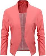 Benibos Women's Folding Sleeve Office Blazer (S, )