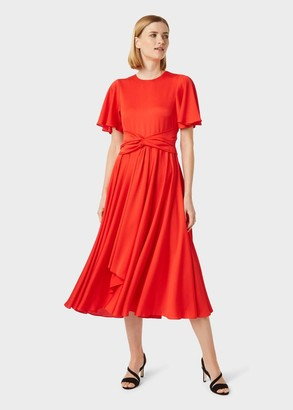 Hobbs Leia Satin Fit And Flare Dress