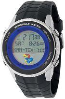 Game Time Kansas Jayhawks Stainless Steel Digital Schedule Watch - Men