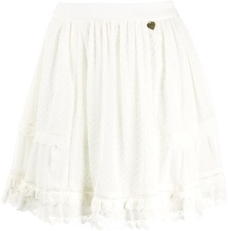 Twin-Set High-Waist Lace Skirt