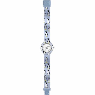 Watch HIP HOP Woman Animals Addicted dial White e watchband in Silicone Light Blue Movement TIME JUST - 3H Quartz
