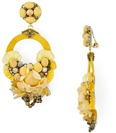 Ranjana Khan Petal Hoop Clip-On Drop Earrings