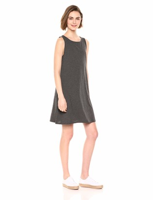 Daily Ritual Amazon Brand Women's Lightweight Lived-In Cotton Sleeveless Boat-Neck Dress