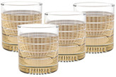Culver 22K Gold Striped Old Fashioned Glass - Set of 4