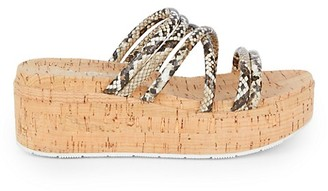 J/Slides Quay Natural Platform Sandals