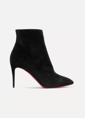 Christian Louboutin Eloise 85 Suede Ankle Boots - Black